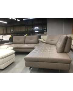Nicoletti Leather Sectional Reg. Price $8999 Our Outlet Price $3199.