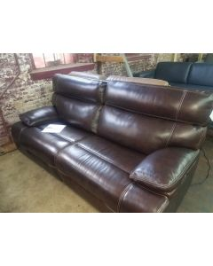"Baringtan 85"" Leather Sofa with 2 Power Recliners, Power Headrests and USB Power Outlet"