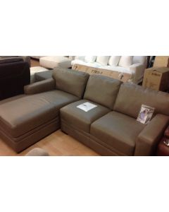 Park Avenue 2-Pc. Leather Sectional with Chaise