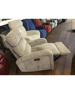 STELLA Fabric Power Recliner With Power Headrest And USB Power Outlet