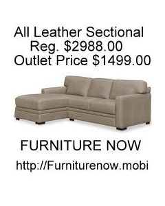 Park Avenue 2-Pc. Leather Sectional with Chaise - BLACK FRIDAY SALE $1199