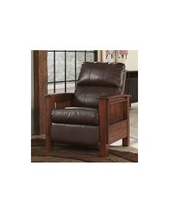 A Harris Leather Pushback Recliner