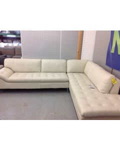 Chateau D'ax Corisca 2pc Leather Sectional Italian Leather $1699.00