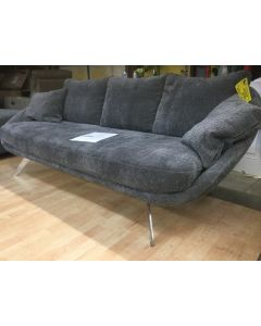 "Italian Chenille fabric 84"" Gray sofa"