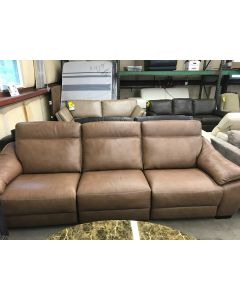 Gen 3-pc Leather Sectional Sofa with Power Headrest