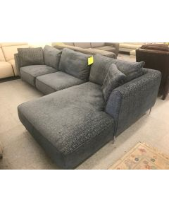 Chateau D'ax Margot Sectional Color BlueGray Down Filled