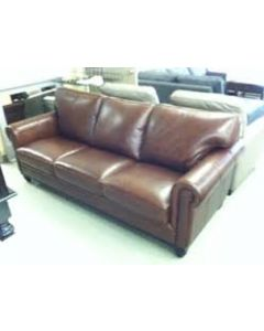 Stewart  Brandy Leather Sofa Brown