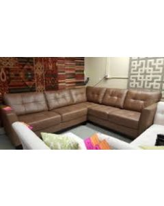 Martino Leather 2-Piece Sectional Sofa  / color Cafe