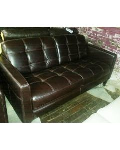 Milan Brown Leather Sofa   SALE !