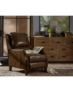 Narmer Leather Push Back Recliner