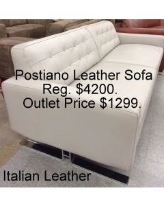 Chateau D'Ax Postiano Leather Sofa Leather :  Color Dovegray  * SALE $799