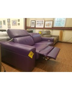 Chateau D'ax  2-Piece Purple Leather power reclining Sofa