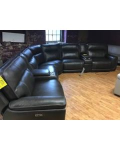 6 pc. Summer Leather sectional