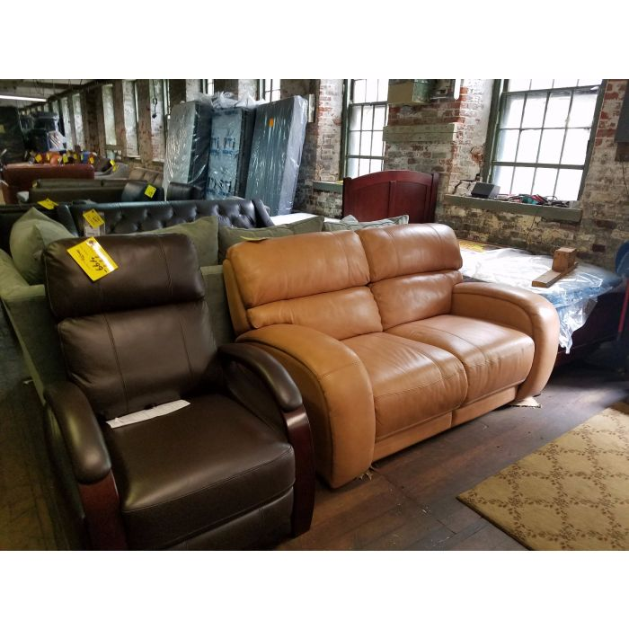 Hartly Leather Pushback Recliner  sc 1 st  Furniturenow.mobi & Leather Pushback Recliner islam-shia.org