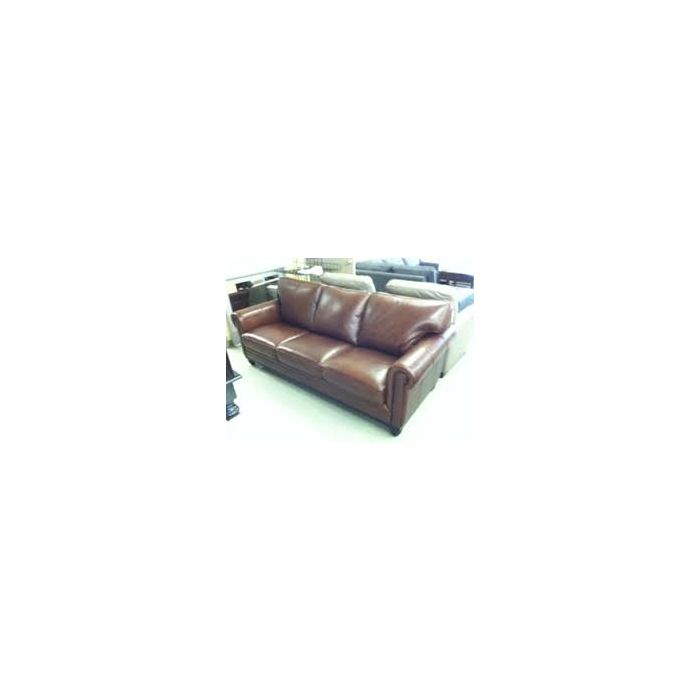 Martha Stewart Collection Bradyn Leather Sofa Color : Eden