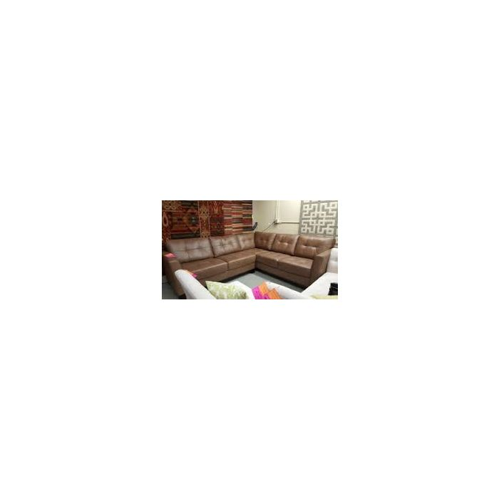Martino Leather 2 Piece Sectional Sofa Color Cafe