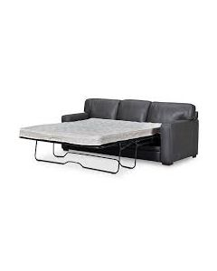 """PARK AVE 87"""" Leather Queen Sleeper Sofa,"""