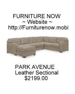 Park Avenue 3-Pc. Leather Sectional with Chaise