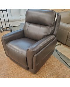 Summer Bridge Leather Power Glider Recliner  Power Headrest USB Port