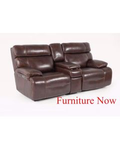 """81"""" Leather  All Loveseat with 2 Power Recliners, Power Headrests and Console with USB Power Outlet $999"""