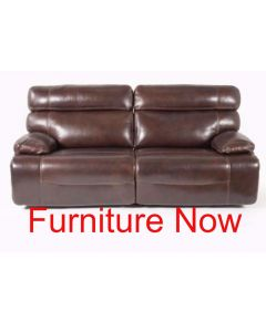 """85"""" Leather Sofa with 2 Power Recliners, Power Headrests and USB Power Outlet"""
