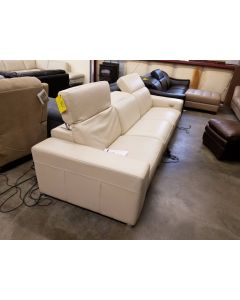 D'ax  Helen 3-Piece  Leather Sectional Sofa