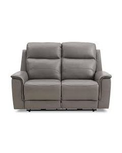 "Goodwic 61"" Leather Dual Power Motion Loveseat"
