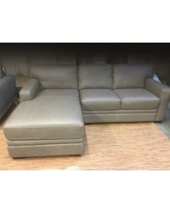 Park Ave Leather taupe love /chaise