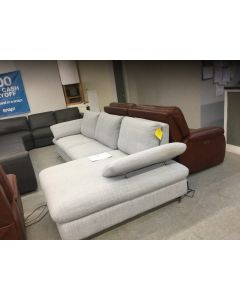 "Martha Stewart Braydn 89"" leather sofa"