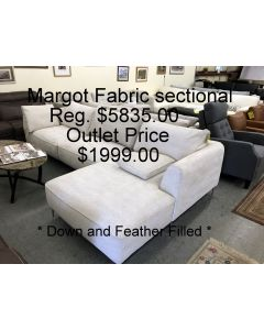 Chateau D'ax Margot Sectional light tan