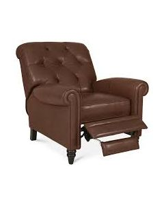 Stewart Brandy Leather Recliner Brown