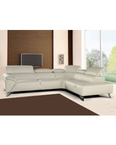 High-end Italian Mfg. Leather Sectional Sofa / Color : Dovegray Sale $1999.00